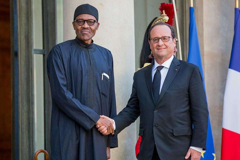 President Buhari meets President Francoise Hollande At Elysee 1