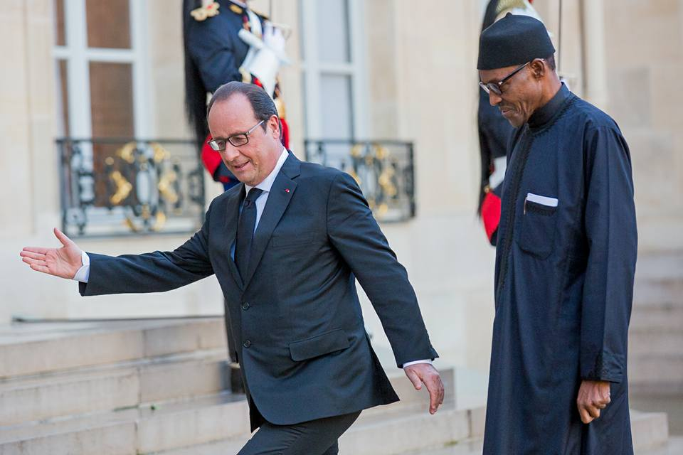President Buhari meets President Francoise Hollande At Elysee 2