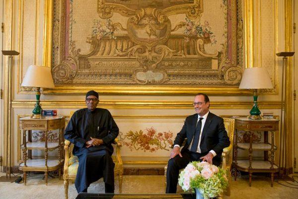 President Buhari meets President Francoise Hollande At Elysee 3