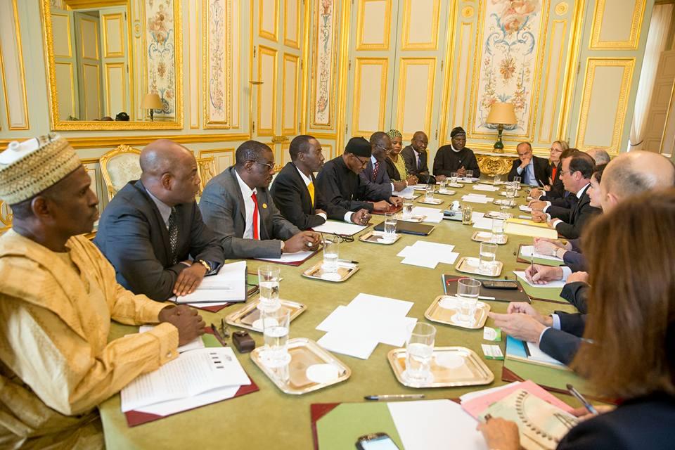 President Buhari meets President Francoise Hollande At Elysee 4