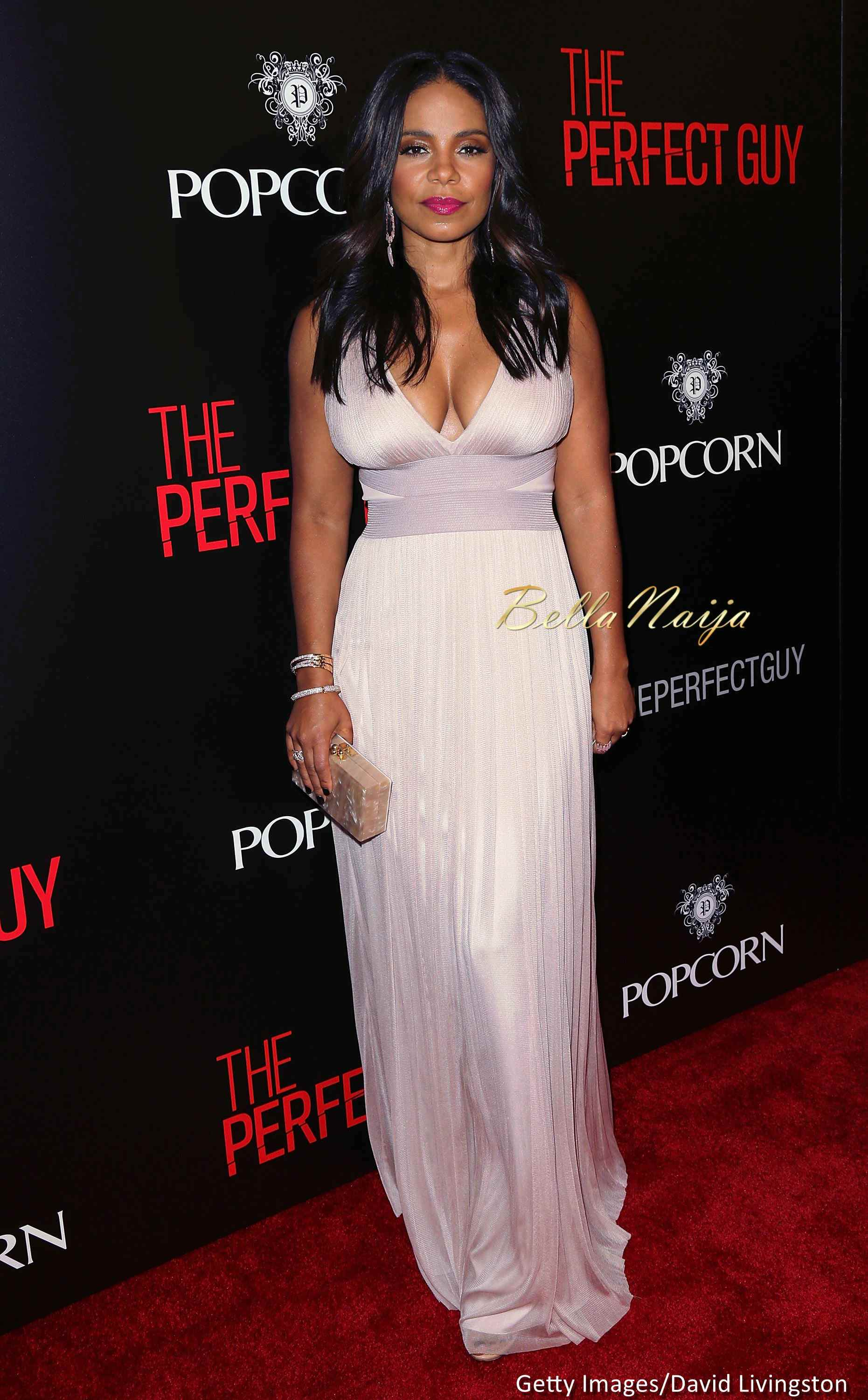 The Perfect Pink Lipstick For Every Bride: Red Carpet Photos! Sanaa Lathan, Morris Chestnut, Michael