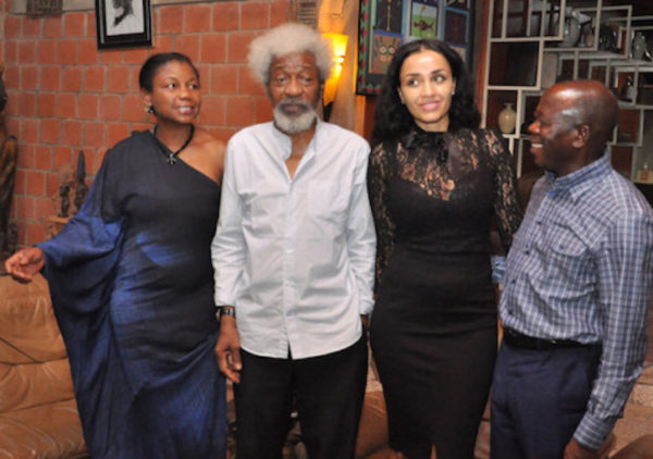 With Wole Soyinka & his wife at their home