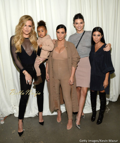 Khloe Kardashian, North West, Kim Kardashian West, Kendall Jenner and Kourtney Kardashian
