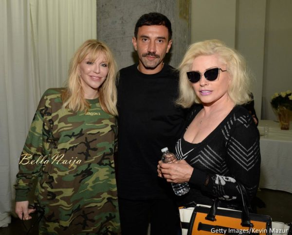 Courtney Love, Riccardo Tisci and Debbie Harry
