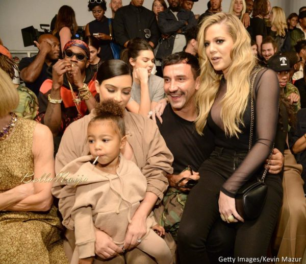 North West, Kim Kardashian West, Riccardo Tisci and Khloe Kardashian