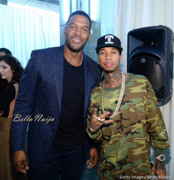 Michael Strahan and Tyga