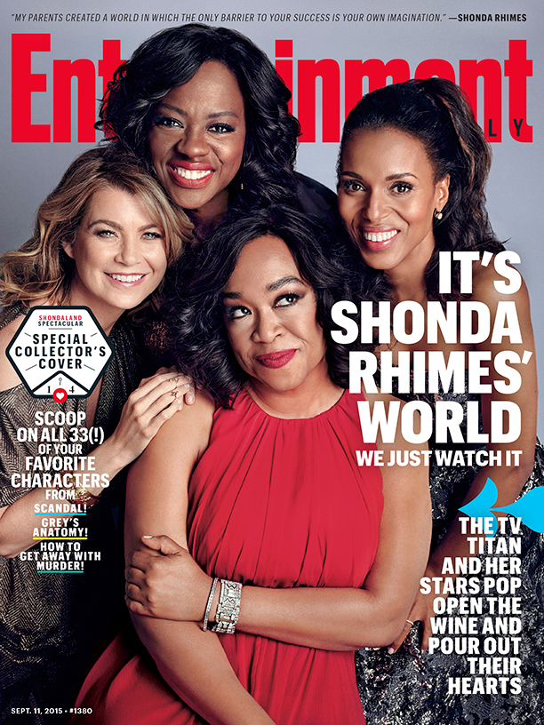 it 39 s shonda rhimes 39 world see 4 sizzling hot covers of her hit series for entertainment weekly. Black Bedroom Furniture Sets. Home Design Ideas
