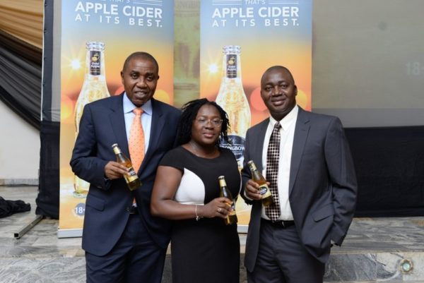 14-Sales Director, NB Plc, Hubert Eze, Brand Manager, Strongbow, Kehinde Kadiri and Zonal Business Manager, Mohammed Shaibu
