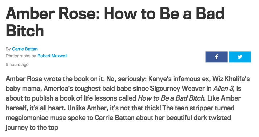 Amber Rose How to Be a Bad Bitch GQ copy