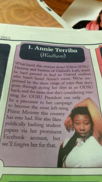 Annie Teriba Newspaper