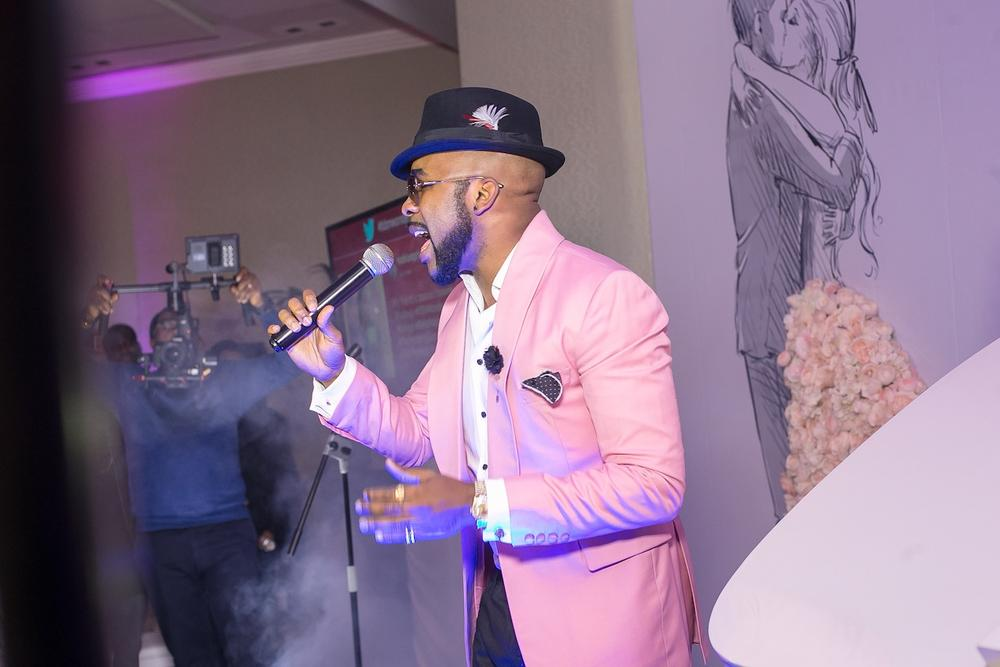 Banky W in the house serenading the #BBNWonderland Brides