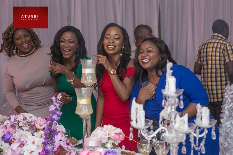 BellaNaija Team screaming for Banky! - Moremi, Jennifer, Feyikemi & Desola