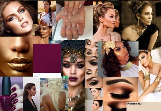 The mood board for the collection lookbook shoot