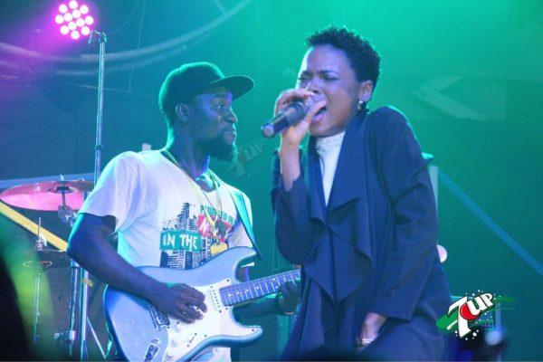 Chidinma performing at Felabration