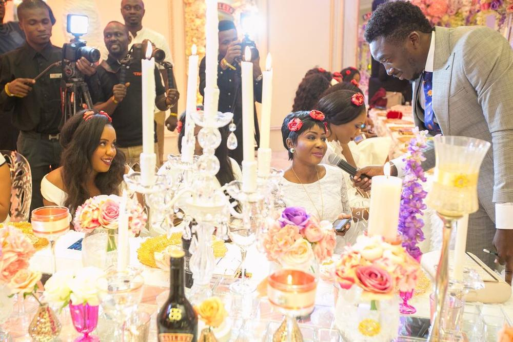 Bovi and a bride at #BBNWonderland - Baileys and BellaNaija Weddings