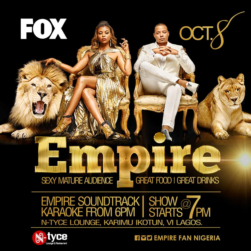 watch new episodes of empire season 2 at n tyce lounge and bar every thursday at 7pm bellanaija. Black Bedroom Furniture Sets. Home Design Ideas