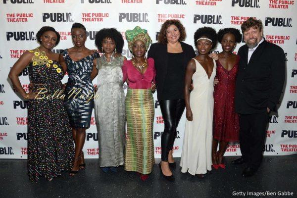 Saycon Sengbloh, playwright Danai Gurira, Pascale Armand, Akosua Busia, director Liesl Tommy, Zainab Jah, Lupita Nyong'o and Oskar Eustis