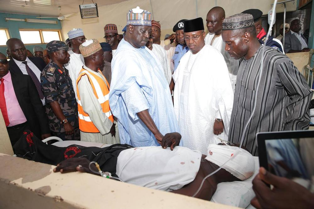 FG visits Bomb Blast victims Yola 12