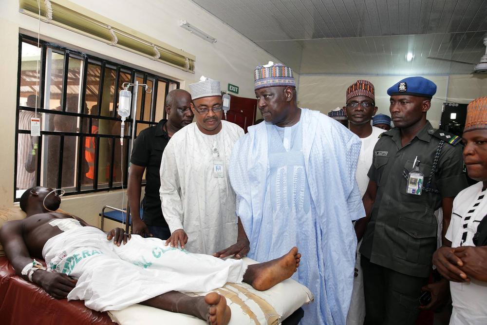 FG visits Bomb Blast victims Yola 3