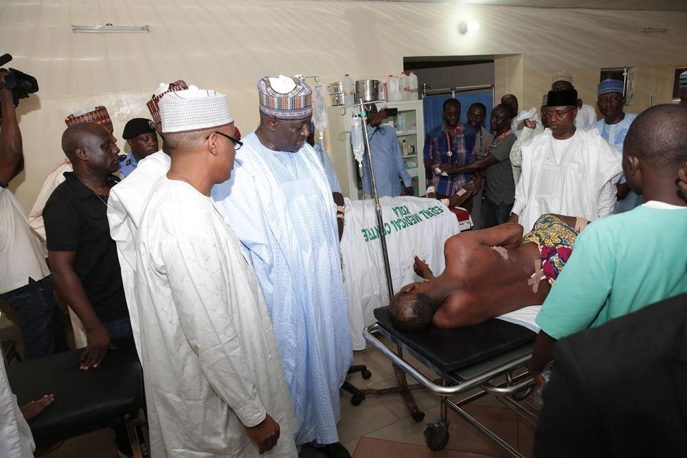 FG visits Bomb Blast victims Yola 4