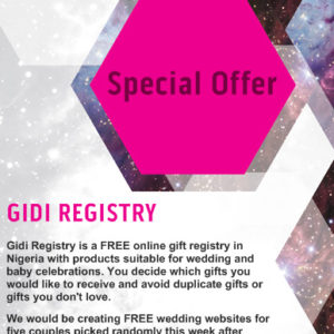 Latest Gidi Registry News
