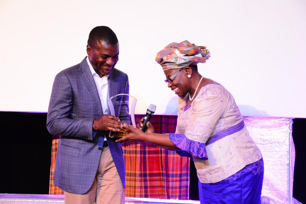 Frank Nweke and Oby Ezekwesili