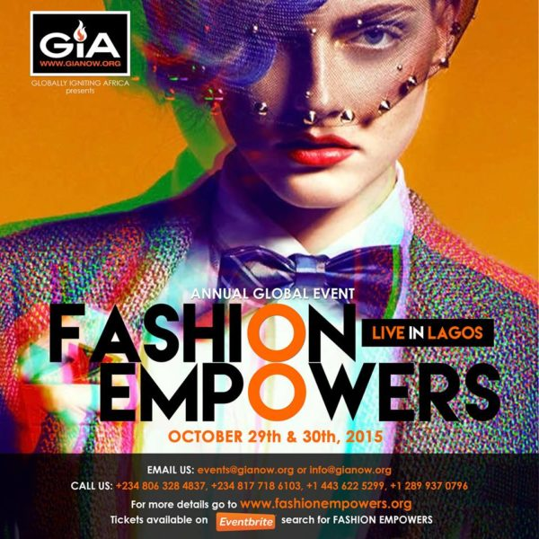 GIA's Fashion Empowers 2015 Official Flyer