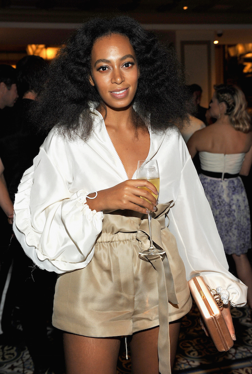 BEVERLY HILLS, CA - OCTOBER 20: Recording artist Solange Knowles attends the CFDA/Vogue Fashion Fund Dinner at Bouchon Beverly Hills on October 20, 2015 in Beverly Hills, California. (Photo by Donato Sardella/Getty Images for CFDA/Vogue)