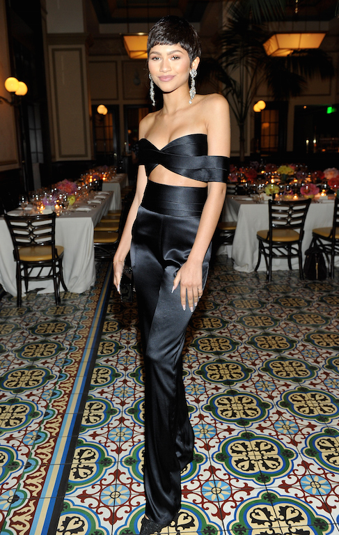 BEVERLY HILLS, CA - OCTOBER 20: Singer Zendaya attends the CFDA/Vogue Fashion Fund Dinner at Bouchon Beverly Hills on October 20, 2015 in Beverly Hills, California. (Photo by Donato Sardella/Getty Images for CFDA/Vogue)