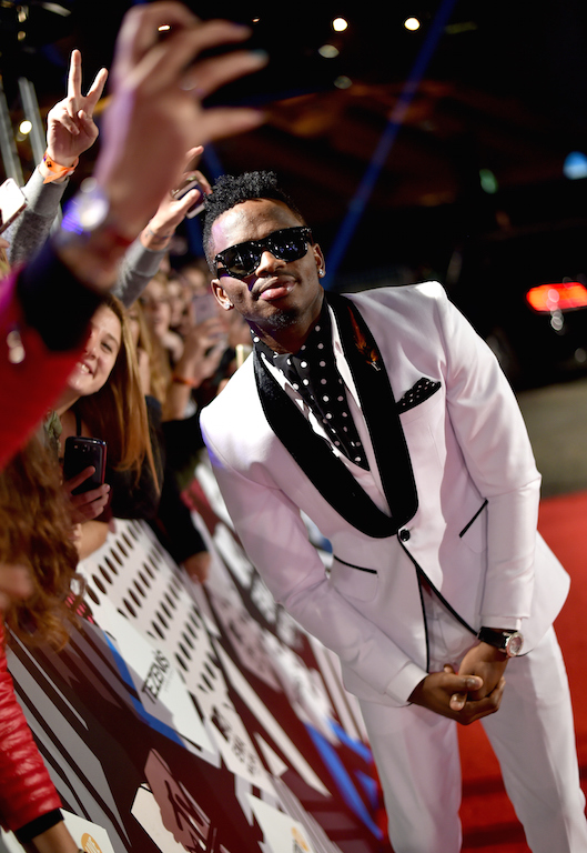 MILAN, ITALY - OCTOBER 25:  Diamond Platnumz on stage during the MTV EMA's 2015 at the Mediolanum Forum on October 25, 2015 in Milan, Italy.  (Photo by Gareth Cattermole/MTV 2015/Getty Images for MTV)