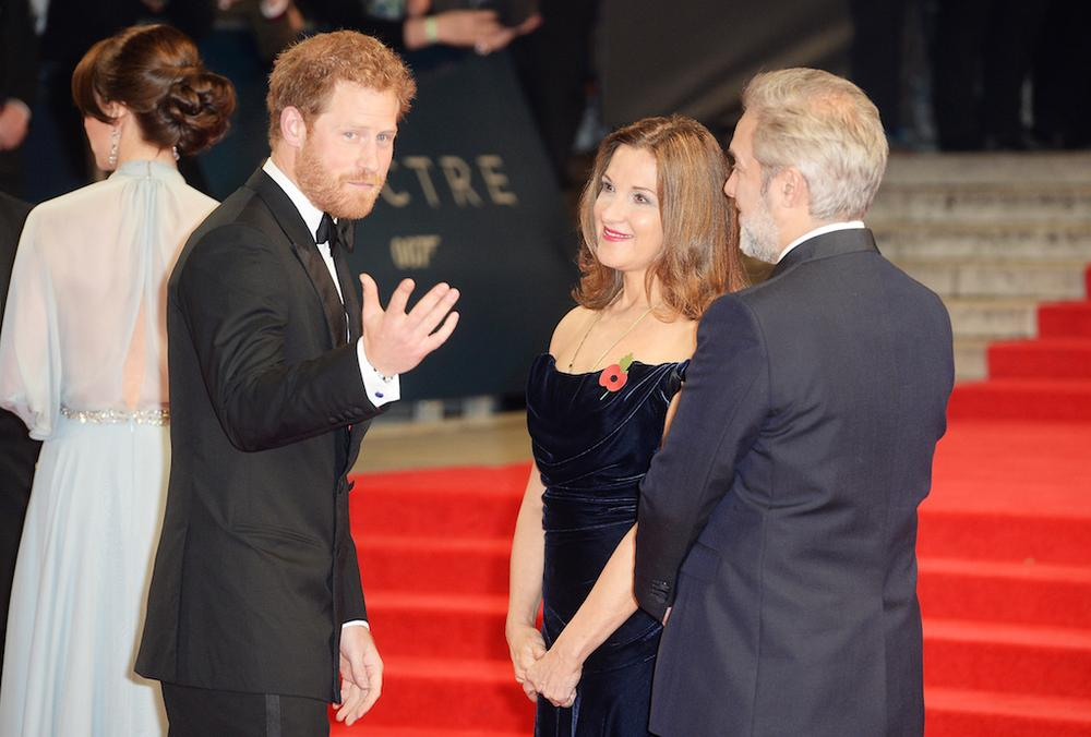 Prince Harry, Barbara Broccoli and Director Sam Mendes