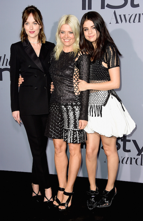 Dakota Johnson, stylist Kate Young and actress Selena Gomez