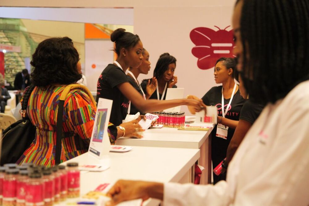 Hairfinity Team in Nigeria - Bellanaija - October010