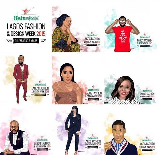 Heineken Lagos Fashion & Design Week Ambassadors - BellaNaija - October 2015