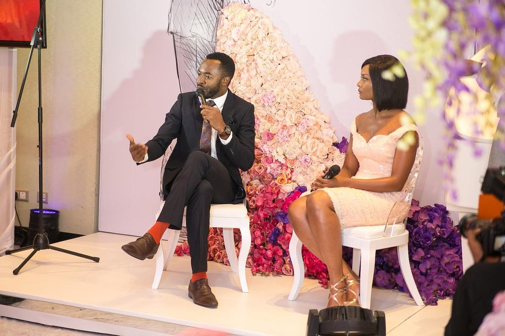 Interacting with the BBNWonderland brides, celeb bride & groom, Oc Ukeje & Osas Ajibade