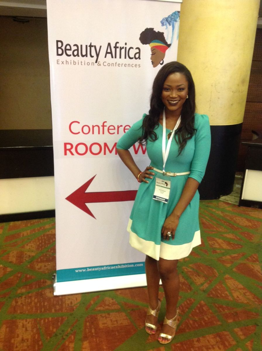 Jennifer Obiuwevbi od BellaNaija Beauty at the Beauty Africa Expo 2015 - Bellanaija - September006