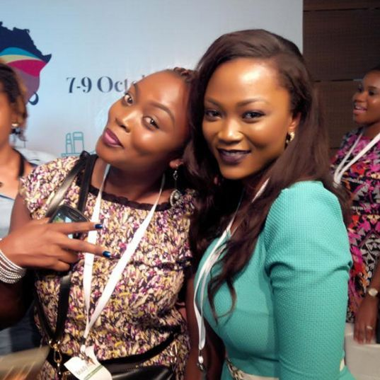 Jennifer Obiuwevbi od BellaNaija Beauty at the Beauty Africa Expo 2015 - Bellanaija - September011