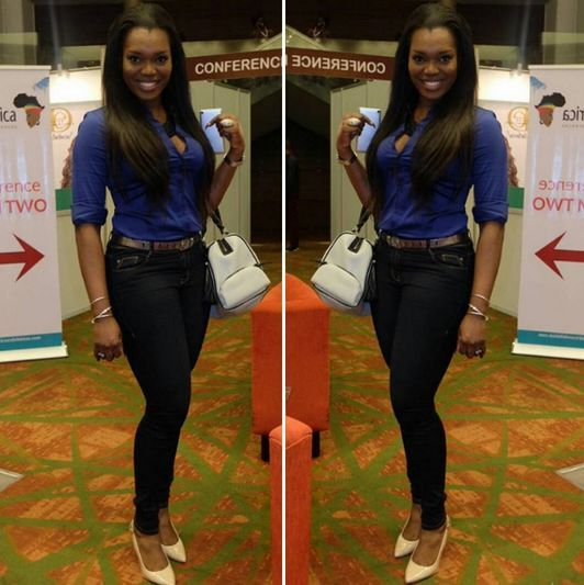Jennifer Obiuwevbi od BellaNaija Beauty at the Beauty Africa Expo 2015 - Bellanaija - September015