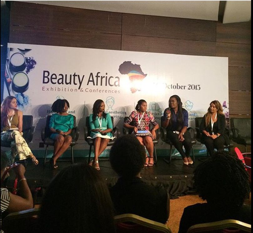 Jennifer Obiuwevbi od BellaNaija Beauty at the Beauty Africa Expo 2015 - Bellanaija - September017