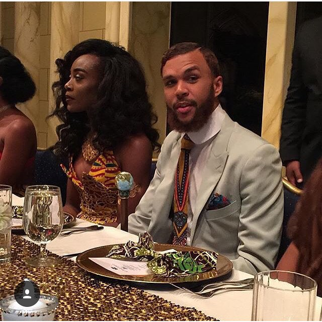 Jidenna and Jessica - All Things Ankara Ball 2015 1