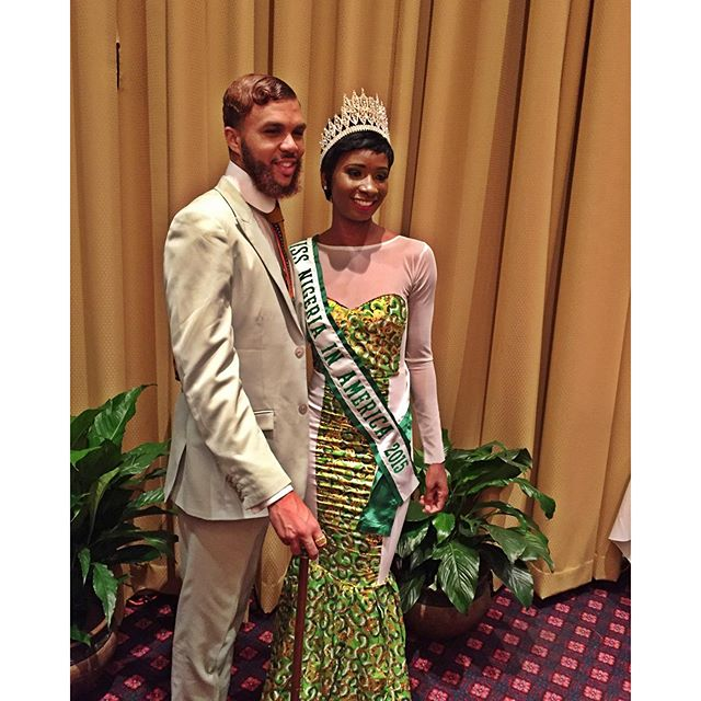 Jidenna with beauty queen Chelle