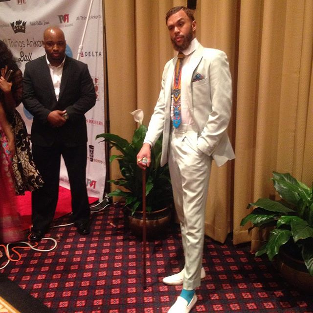 Jidenna and Jessica - All Things Ankara Ball 2015 3