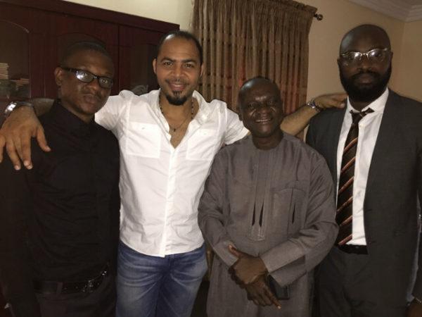 Kenneth Nnegbue, His son Obinna, Ramsey Nouah and Charles Okpaleke