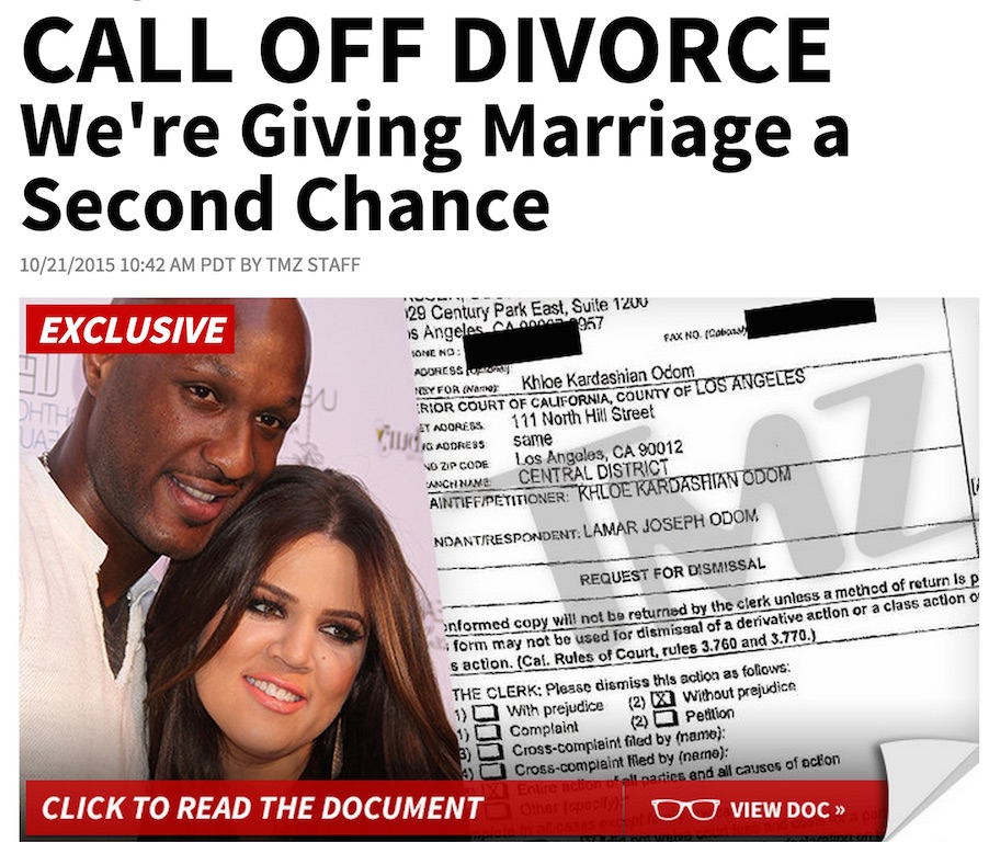 tmz claims khloe amp lamar are giving marriage a second