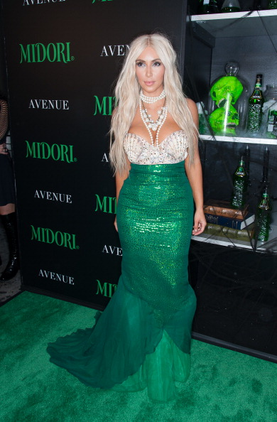 Kim Kardashian attends 2nd Annual Midori Green Halloween Party at Avenue on October 27, 2012 in New York City.