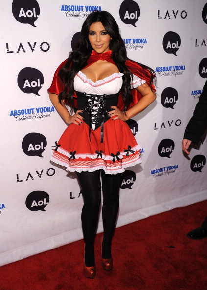 Kim Kardashian attends Heidi Klum's 2010 Halloween Party at Lavo on October 31, 2010 in New York City.