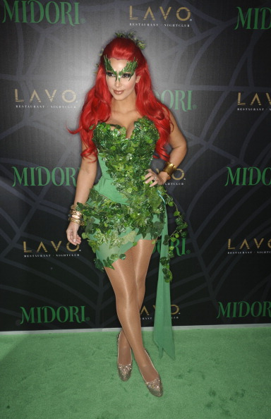 Kim Kardashian attends the Midori Green Halloween costume party at Lavo on October 29, 2011 in New York City.