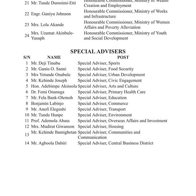 Lagos State List 2