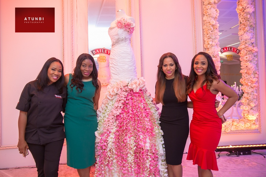 Lara - Eventi Cocktails, Ufuoma Udjoh - Baileys Nigeria Brand Manager, Christine Ogbeh - The Wedding Guru, Ink Eze - BellaNaija Weddings