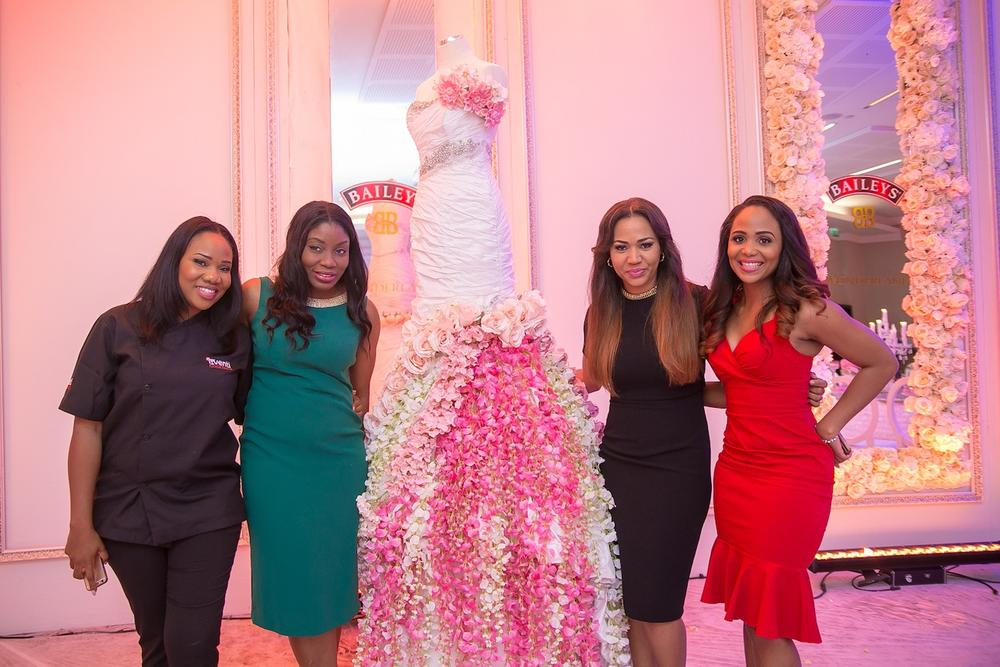 Lara Rawa of Eventi Cokctails, Ufuoma Udjoh - Brand Manger, Baileys Nigeria, Christine Ogbeh of The Wedding Guru and Nkechi Eze - Editor, BellaNaija Weddings